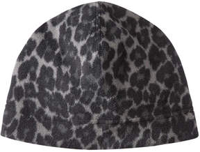 Joe Fresh Women's Leopard Print Fleece Hat, Grey (Size O/S)