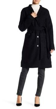 Ellen Tracy Wool-Blend Robe Coat