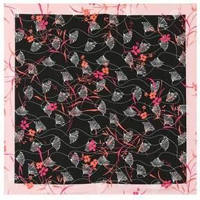 Valentino Floral-printed silk scarf
