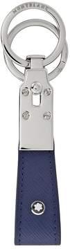 Montblanc Sartorial Indigo Leather Keyfob