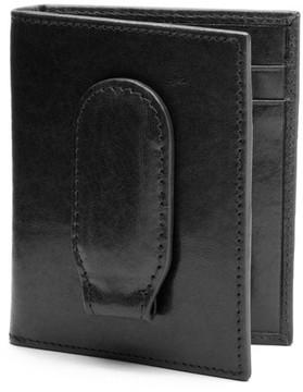 Bosca Men's Vermont Leather Money Clip Wallet - Black