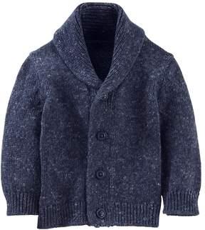 Osh Kosh Baby Boy Marled Shawl Collar Cardigan Sweater