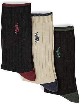 Ralph Lauren Boys' Rib Dress Socks, 3 Pack - Little Kid, Big Kid