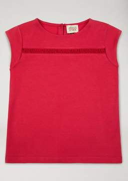 Armani Junior Cotton Jersey Top With Armani Inserts