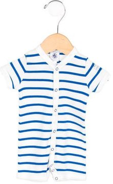 Petit Bateau Boys' Striped Knit All-In-One