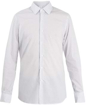 Prada Slim-fit star-print cotton shirt
