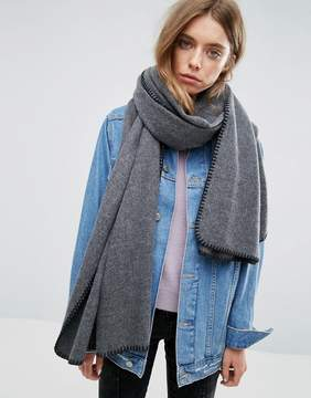Asos Long Woven Blanket Stitch Scarf