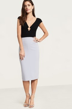 Dynamite Knit Bodycon Midi Skirt