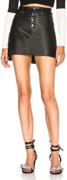 Amiri Leather Skirt