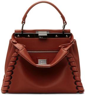 Fendi Red Mini Peekaboo Bag