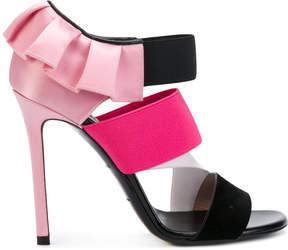 Emilio Pucci frill trim strappy sandals