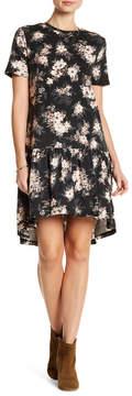 Angie Short Sleeve Ruffle Hem Dress