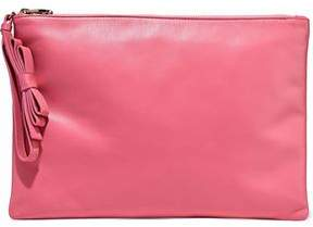 RED Valentino Bow-Embellished Leather Pouch