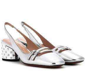 Marc Jacobs Metallic leather sling-back pumps