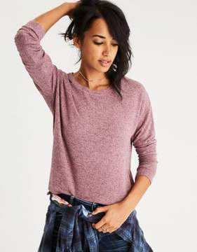American Eagle Outfitters AE Soft & Sexy Plush Drop-Shoulder Sweatshirt