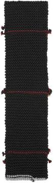 Prada Black Link Knit Scarf