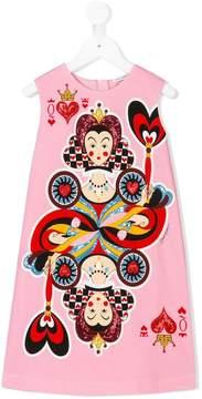 Dolce & Gabbana Queen of Hearts sleeveless dress