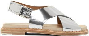 Flamingos Silver Mirror Canna Bis Sandals