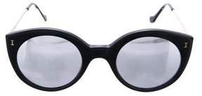 Illesteva Mirrored Round Sunglasses