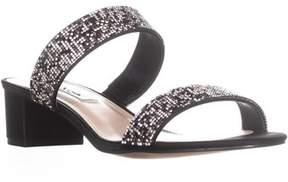 Nina Georgea2 Low-heel Mule Sandals, Black.