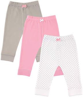 Luvable Friends Pink & Gray Polka Dot Sweatpants Set - Infant