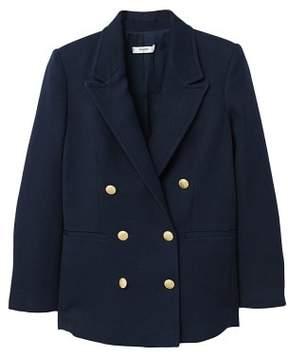 MANGO Double-breasted cotton blazer