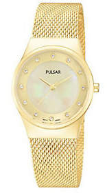 Pulsar Women's Goldtone Stainless Mesh BraceletWatch