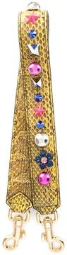 Dolce & Gabbana embellished bag strap - YELLOW & ORANGE - STYLE
