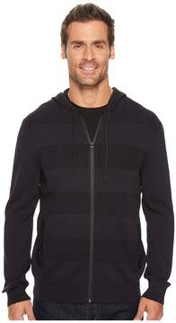 Kenneth Cole Sportswear Techy Mesh Stripe Hoodie Men's Sweatshirt