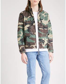 Sandro Camouflage-print shell jacket