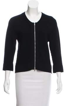 Autumn Cashmere Zip-Accented Long Sleeve Top