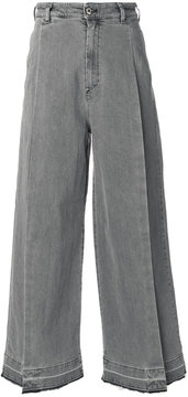 Diesel split front wide leg jeans