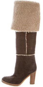 Michael Kors Shearling Knee-High Boots
