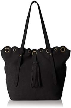 T-Shirt & Jeans Tote with Grommets and Tassel