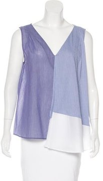 Band Of Outsiders Sleeveless Color-Block Blouse
