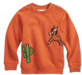 Mini Rodini Donkey & Cactus Applique Organic Cotton Sweatshirt