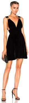 Fausto Puglisi Short Velvet Dress