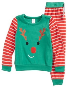 Tucker + Tate Toddler Boy's Reindeer Fitted Two-Piece Pajamas Set