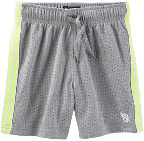 Osh Kosh Oshkosh Bgosh Toddler Boy Striped Gray Mesh Shorts