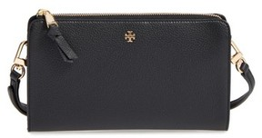 Tory Burch Women's Robinson Leather Wallet/crossbody Bag - Black - BLACK - STYLE