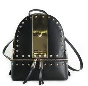 MICHAEL Michael Kors Rhea Medium Stars Studded Backpack Black/gold - BLACK - STYLE