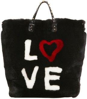 Dolce & Gabbana Beatrice 4 Ever Lapin Fur Tote Bag