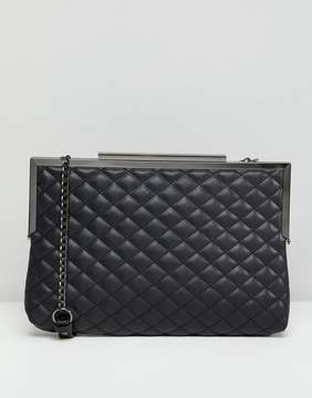 New Look Quilted Oversized Clutch Bag