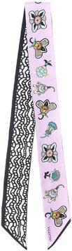 Valentino Pop Flower Print Bandeau scarf