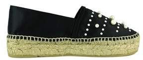 Karl Lagerfeld Women's Black Cotton Espadrilles.