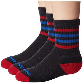 Smartwool Striped Hike Light Crew 3-Pack Crew Cut Socks Shoes