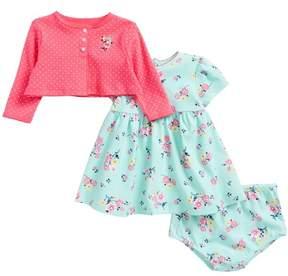 Little Me Floral Dress & Cardigan Set (Baby Girls)