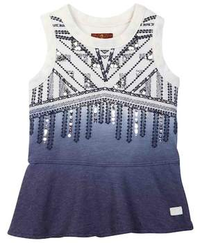 7 For All Mankind Sequined Dip-Dye Tank (Little Girls)