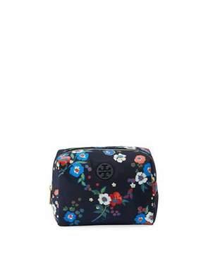 Tory Burch Brigitte Floral-Print Cosmetics Case