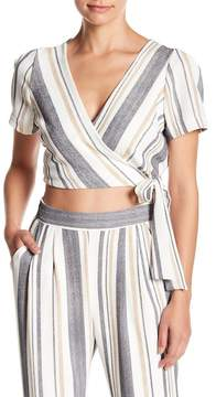 Dee Elly Wrap Striped Top